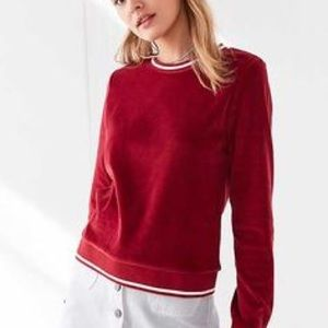 BDG Velour College Sweater